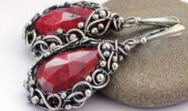 Серебро с рубином