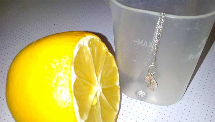 Чистка лимоном серебром