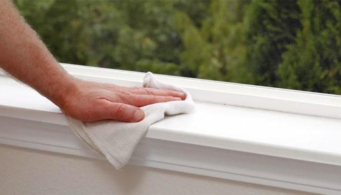 Как отмыть подоконник пластикового окна в домашних условиях