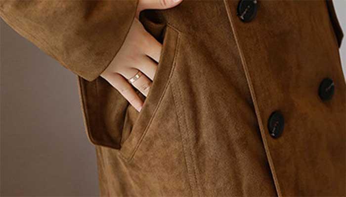 Пальто из замши