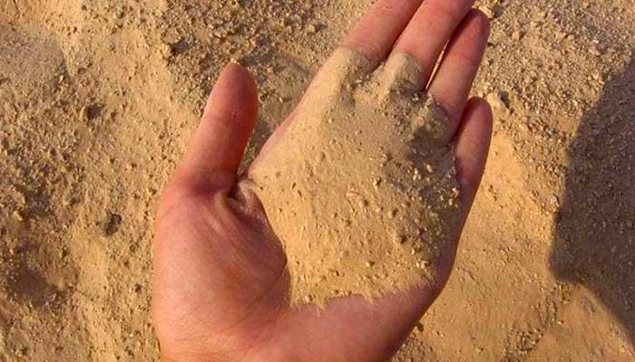 Песок для чистки шубы