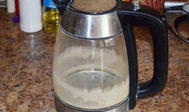 Стеклянный чайник очистка