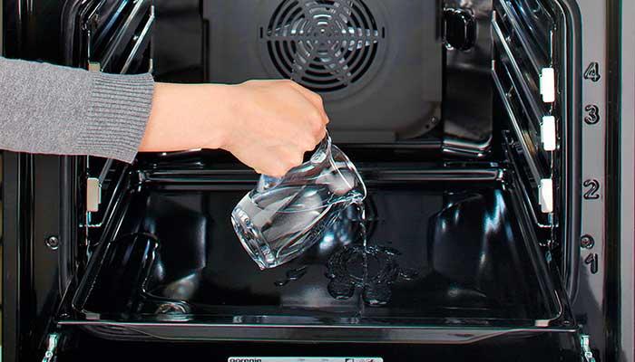 Чистка духовки паром