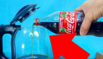 Как почистить чайник от накипи Кока-Колой и не испортить его