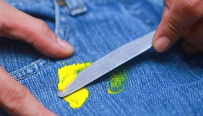 Очистка краски ножом