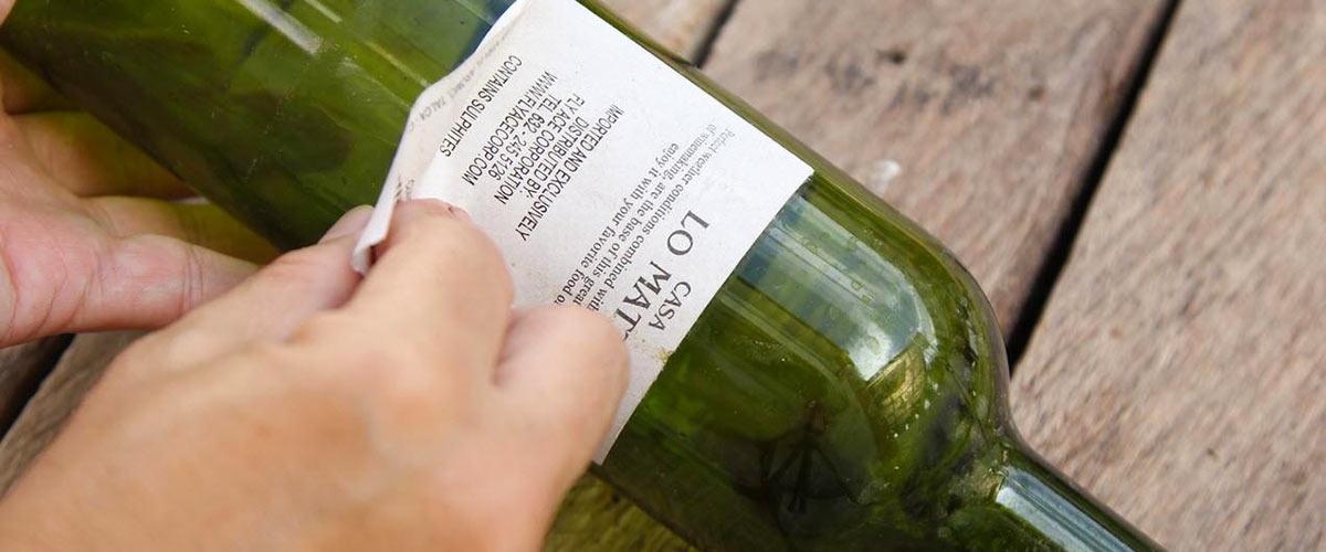 Бутылка с этикеткой