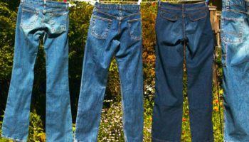 Пятно жирное на джинсах