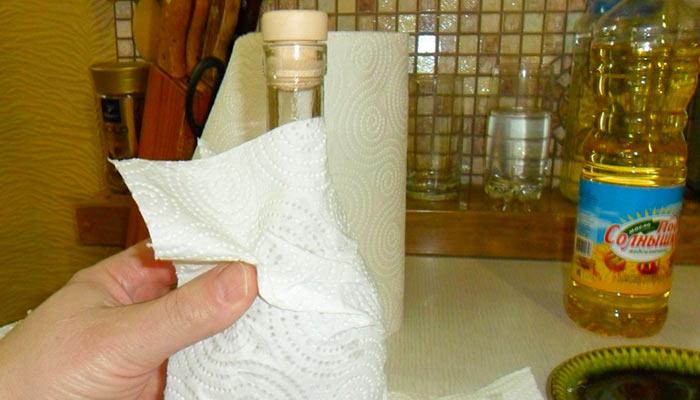 Удаление этикетки маслом